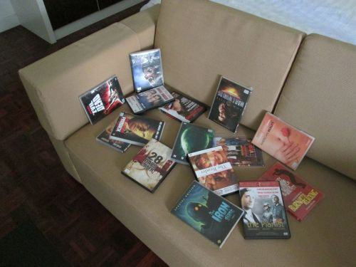 DVDs on Sofa