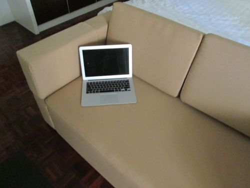 MacBook on Sofa